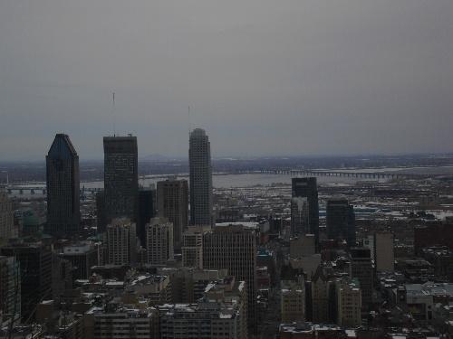 Montréal, vue de Mont Royal