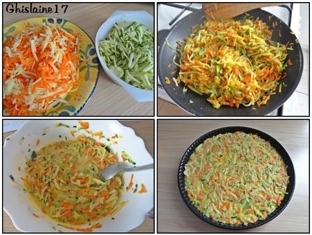 Rösti de pommes de terre et légumes