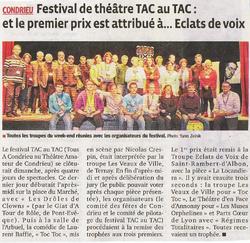 Festival TAC AU TAC de Condrieu