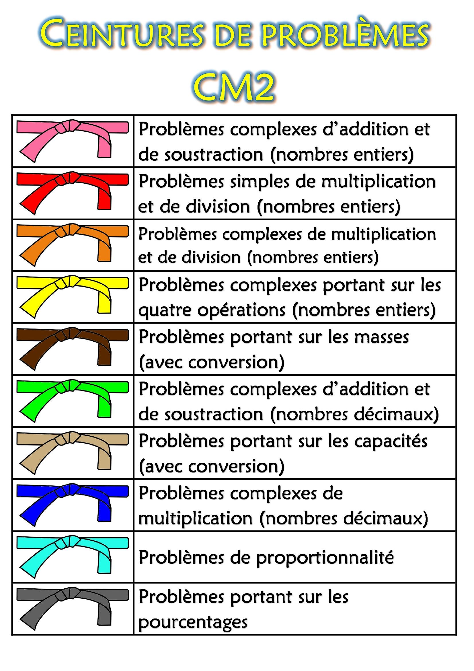 Ceintures de problèmes CM2 - Chez monsieur Paul ae4aa28d91b