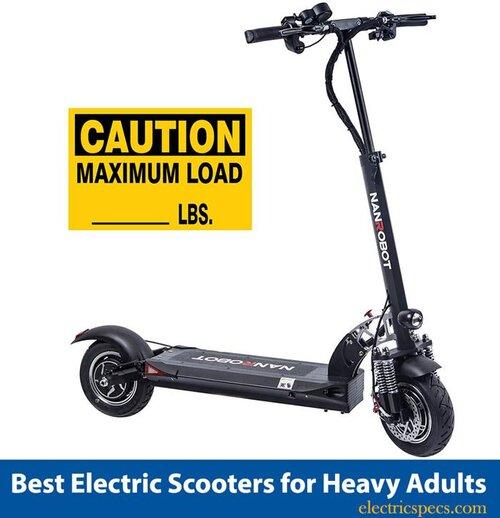 Meilleures trottinettes électriques pour adultes lourds