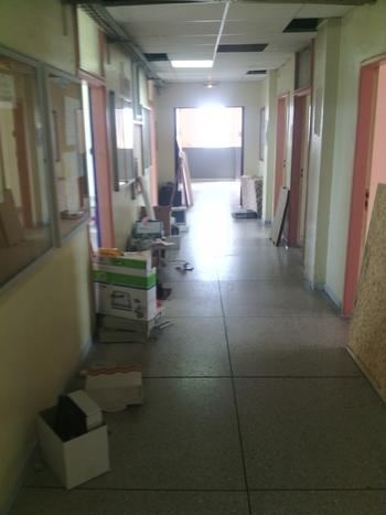couloirs  en cours d'évacuation