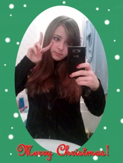 I wish you a merry christmas ~! & a Happy New Year! <3