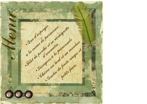 Menu en scrap digital