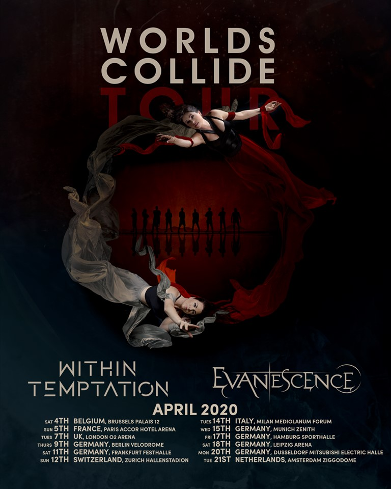 WITHIN TEMPTATION : Dates de tournée 2020 avec Evanescence