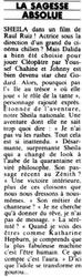 Juillet / Août 1985 : L'île au trésor