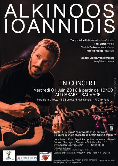 Alkinoos Ioannidis à Paris le 1er juin