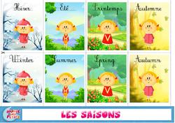le monde des petits, saisons, DDm, GS, CP, CE1