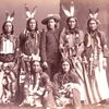 Lakota group (part of Buffalo Bill's Wild West), including translator Antoine Prevost. 1886. Photo b