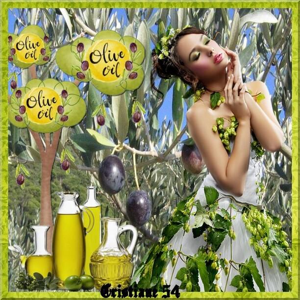 Pour mon amie Cerise déco ( le temps des olives )