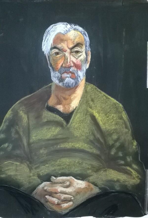 Lundi - Portrait d'un homme barbu