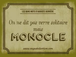 monocle vers solitaire