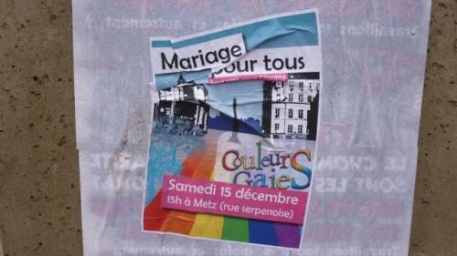 """Manifestation hier en faveur du """"mariage pour tous"""""""