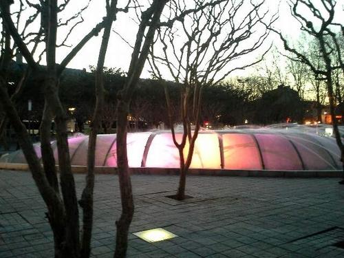 Fontaine colorée