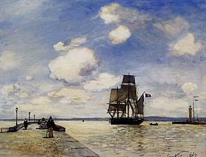 Jongkind Johan Barthold La Jetee a Honfleur 1865 Oil on Can
