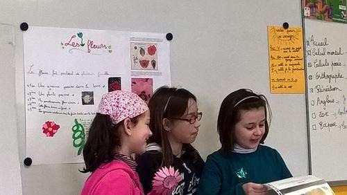 Adèle, Camille et Claire nous parlent des fleurs