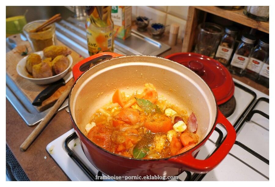 Recette Sot l'y Laisse tomates,curry et gingembre