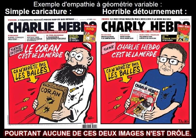 Ce qui vient de se produire à Paris est absolument effroyable, totalement condamnable et surtout pas drôle