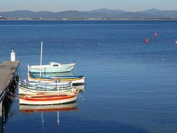 Le port de la Mafrague, seulement occupé en cette saison par quelques bateaux de pêche