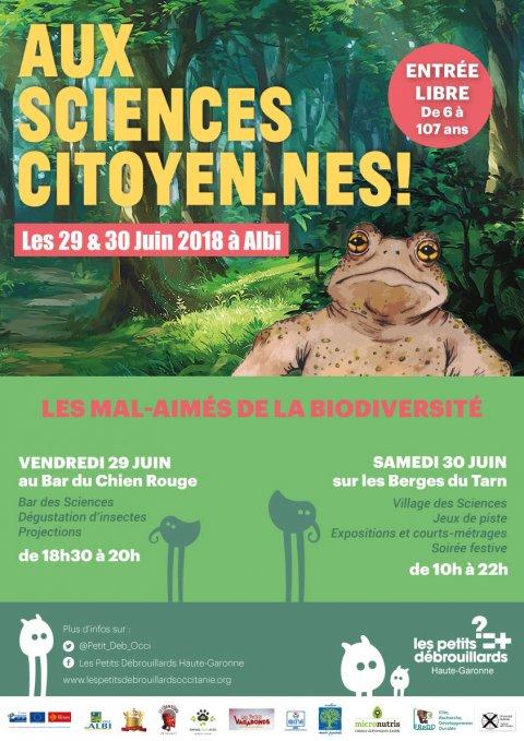 Aujourd'hui et demain à Albi: Festival Aux Sciences Citoyen.nes