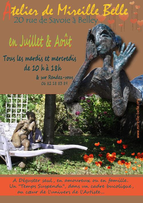 Ouverture estivale de l'atelier de Mireille Belle