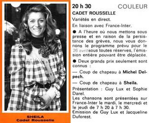 25 avril 1972 / CADET-ROUSSELLE