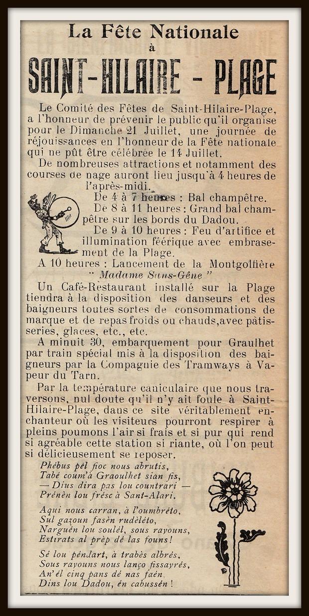 - Fête Nationale à Saint-Hilaire Plage !