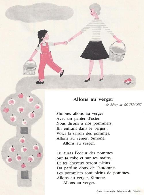 ALLONS AU VERGER (Rémy de Gourmont)