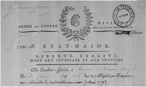 Le Perrier, 4 mai 1794....