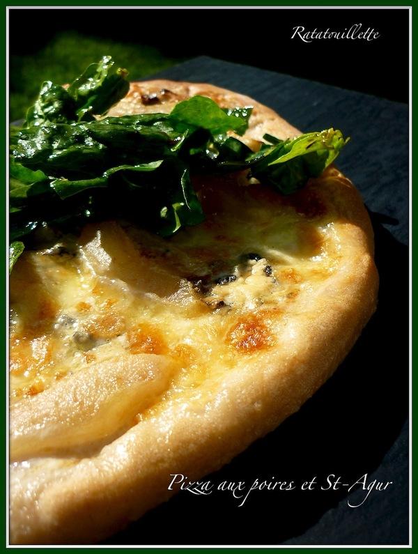 Pizza aux poires et Saint-Agur