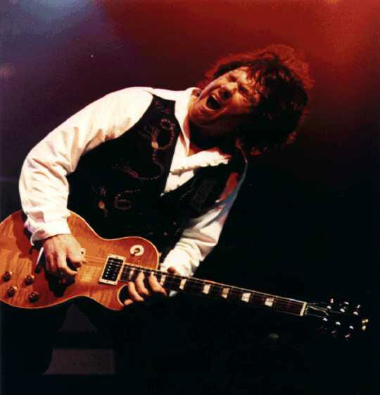 Gary Moore avec sa légendaire Gibson Les Paul Standard