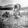 Blackfeet Man. St. Mary Lake. ca. 1914. Photo by R. E. Marble. Source - Glacier National Park Archiv