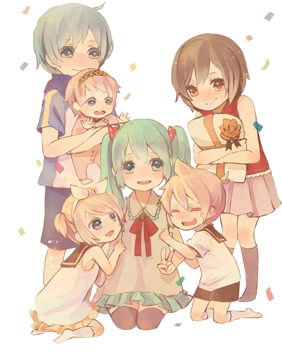Vocaloid family render by mimikohchan