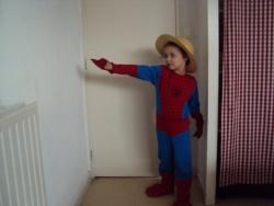 Val-spiderman, finition chien, transfert portrait