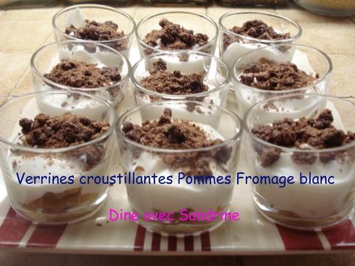 Des Verrines Framboises Fromage blanc et Spéculoos