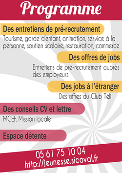 FORUM JOBS D'ETE : 27 avril à Auzeville