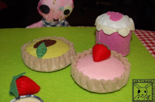 Felt, tartlet, tutorial, handicraft.