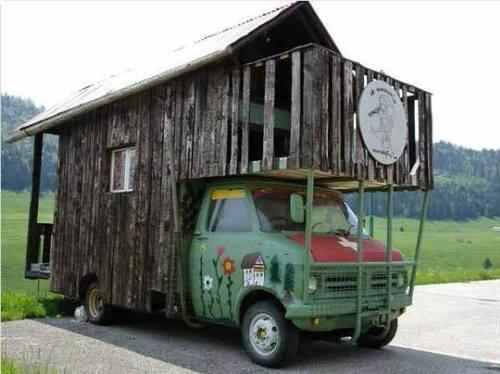 Chalet camping car pour la montagne!