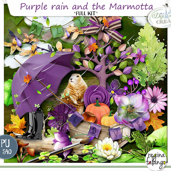 PURPLE RAIN AND THE MARMOTTA BY REGINAFALANGO