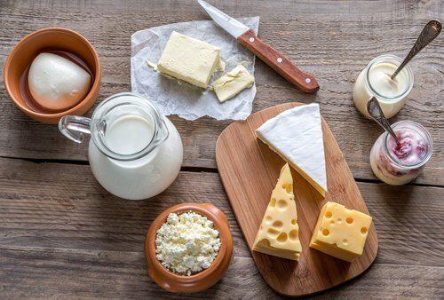 évitez les produits laitiers en cas de mal d'estomac