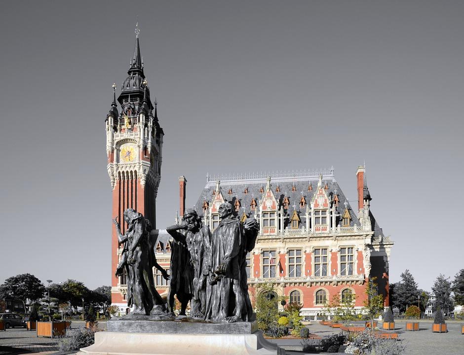 Calais, Hôtel De Ville, Bâtiment, Chiffres, Rodin