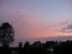 22 h ... Brunante de notre terrasse