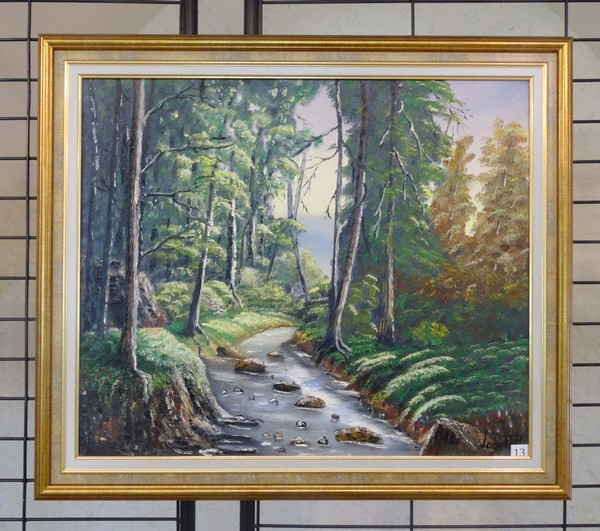 Jean-Pierre Loget a exposé de remarquables trompe-l'oeil et de très beaux paysages, salle des Bénédictines