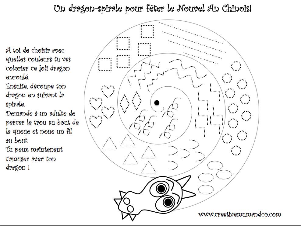 Coloriage Adulte Spirale.Dragons Spirales Les Pious De Chatou Assistante Maternelle Chatou