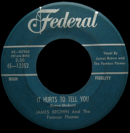 1959 James Brown & The Famous Flames Federal Records 45-12352 [ US ]