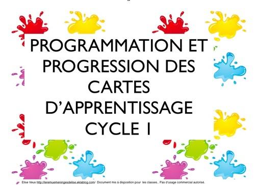 cartes d'apprentissage cycle 1 tous domaines