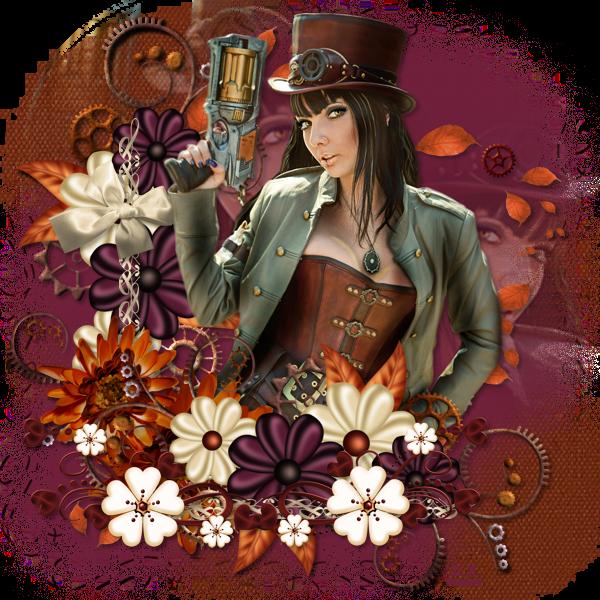"Tutoriel ""Vintage Steampunk"" de Jewel chez Delire2scrap"
