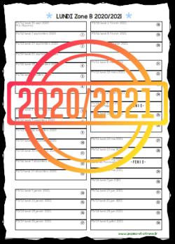 Planning des journées 2020/2021