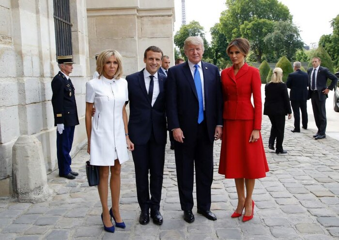 Le couple Trump à Paris