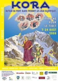 affiche Kora des Jeux Olympiques autour du Mont-Blanc